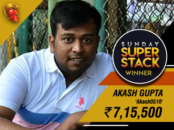 Akash Gupta wins Spartan Sunday SuperStack