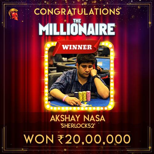 Akshay Nasa The Millionaire Winner