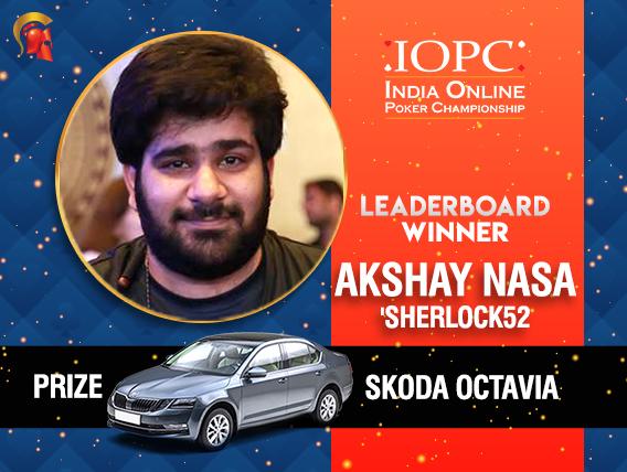 Akshay Nasa tops IOPC LDB; wins Skoda Octavia