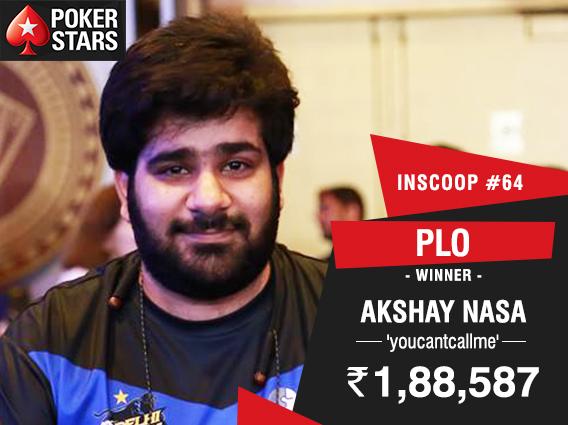 Akshay Nasa wins INSCOOP PLO Event on PokerStars