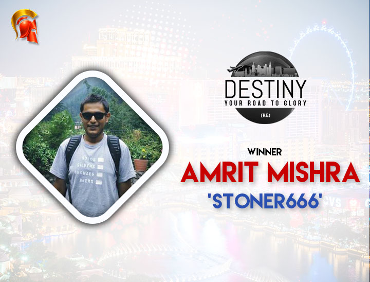 Amrit Mishra is the Eighth Destiny Winner on Spartan