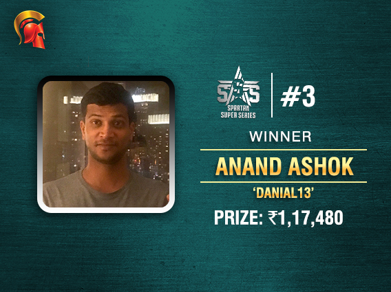 Anand Ashok wins SSS Event #3 on Spartan