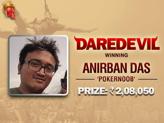 Anirban Das bags maiden Daredevil title
