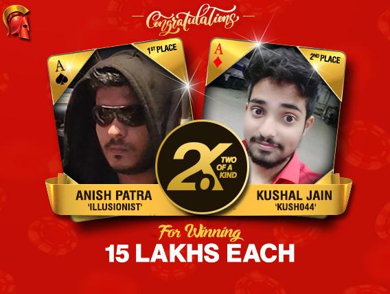 Anish Patra, Kushal Jain win over 15 Lakhs in 2OK