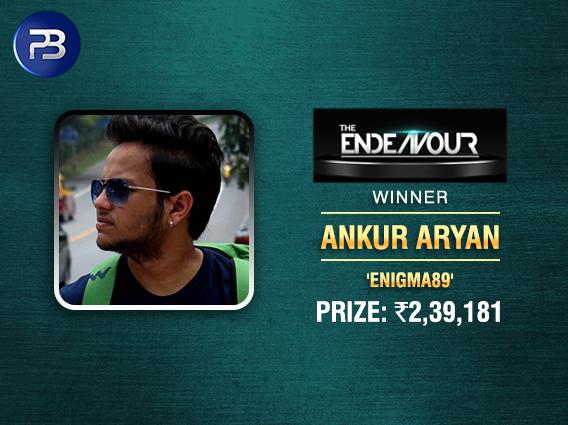 Ankur Aryan ships Endeavour on PokerBaazi