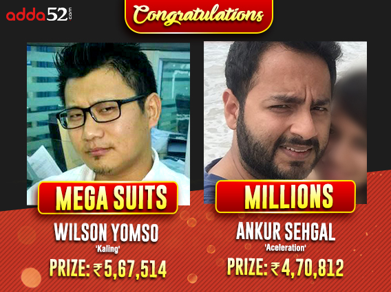 Ankur Sehgal, Wilson Yomso are latest Adda52 Sunday winners
