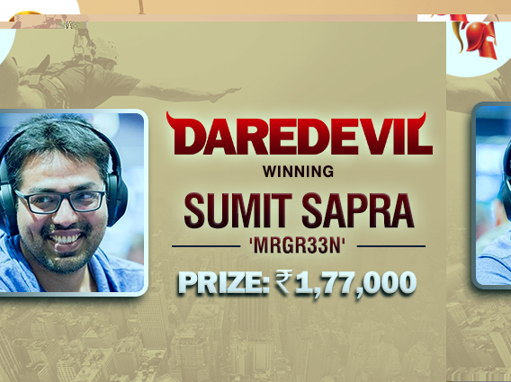 Another online victory for Sumit Sapra - Daredevil
