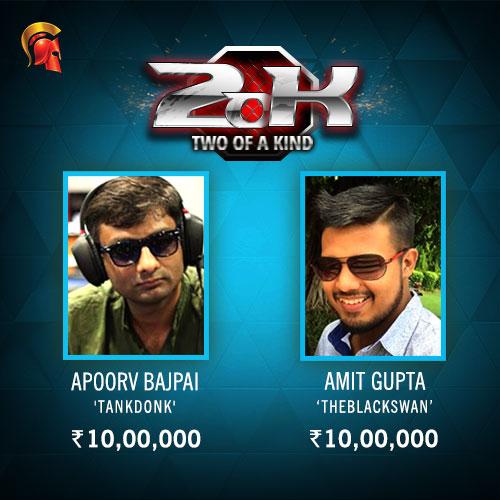 Apoorv Bajpai and Amit Gupta Spartan's 2.o.K Winner