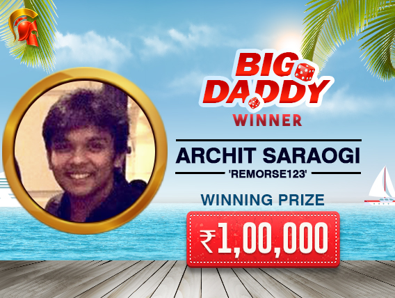 Archit Saraogi wins Spartan's Big Daddy