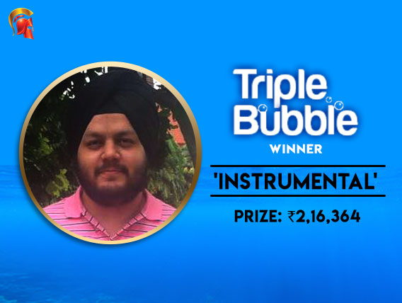 Arjanveer Chadha wins Spartan's Triple Bubble