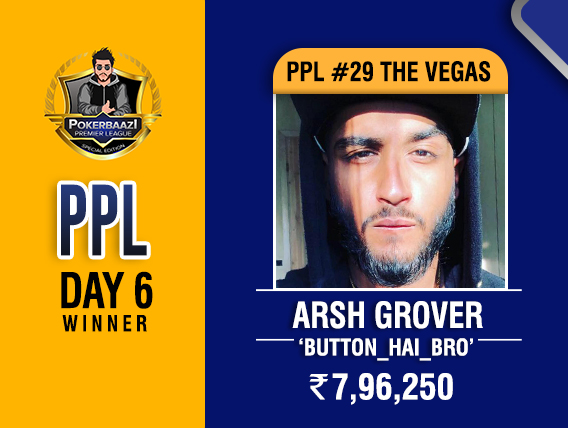 Arsh Grover among title winners on PPL Day 6