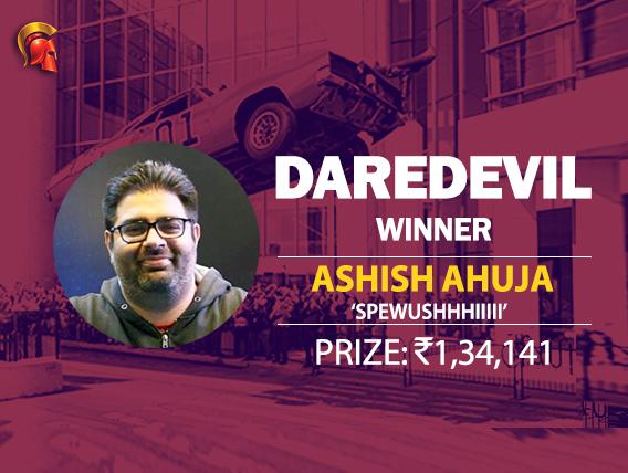 Ashish Ahuja is this week's Spartan DareDevil winner