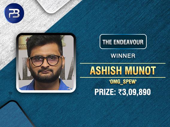 Ashish Munot ships The Endeavour on PokerBaazi