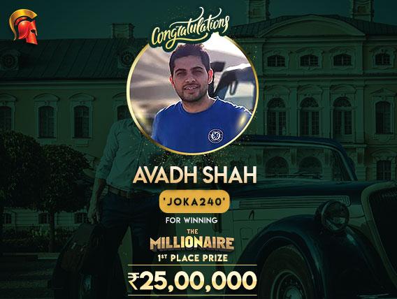 Avadh Shah wins The Millionaire on Spartan; bags INR 25 lakh