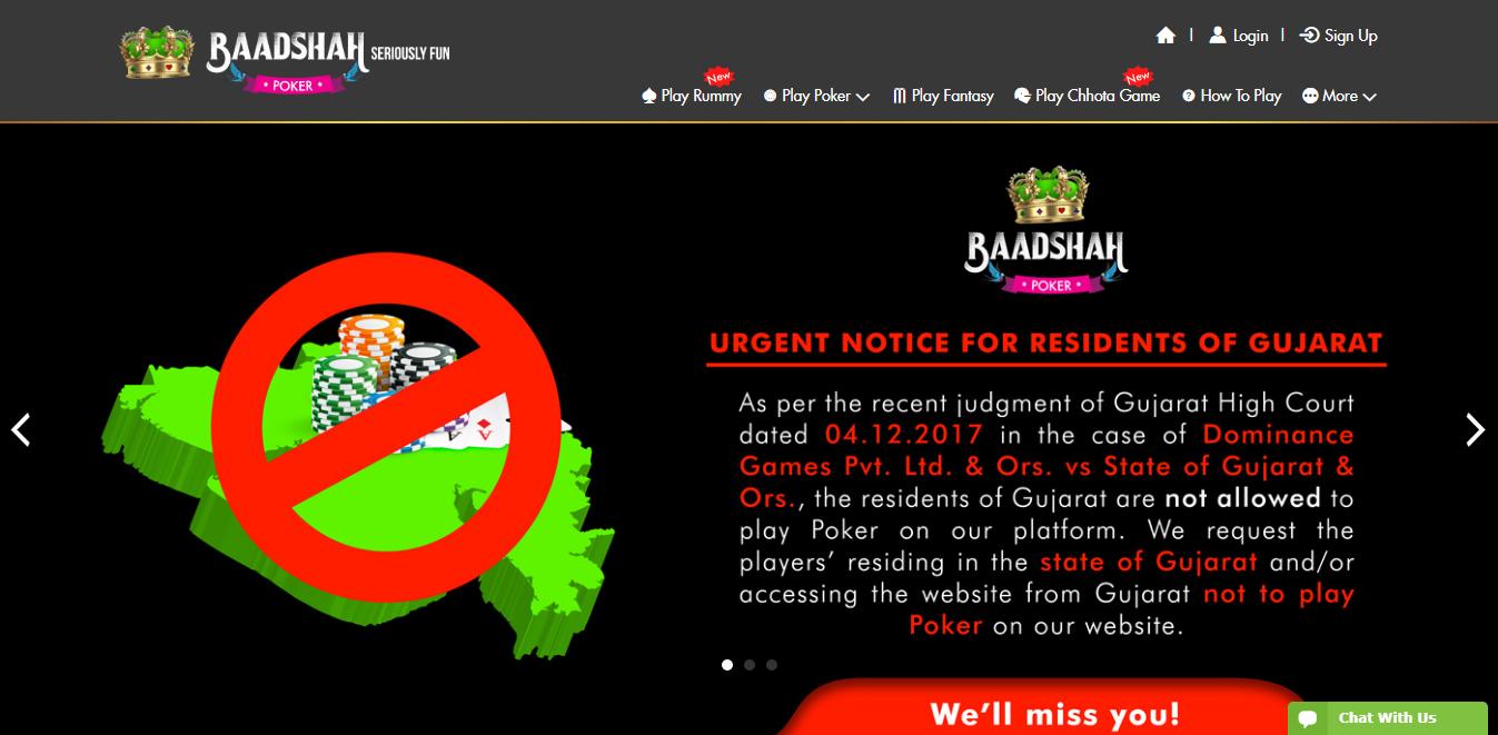 Baadshah Gaming Banning54