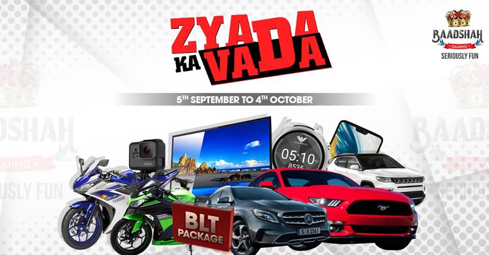 Baadshah Gaming introduces 'Zyaada ka Vada' promotion