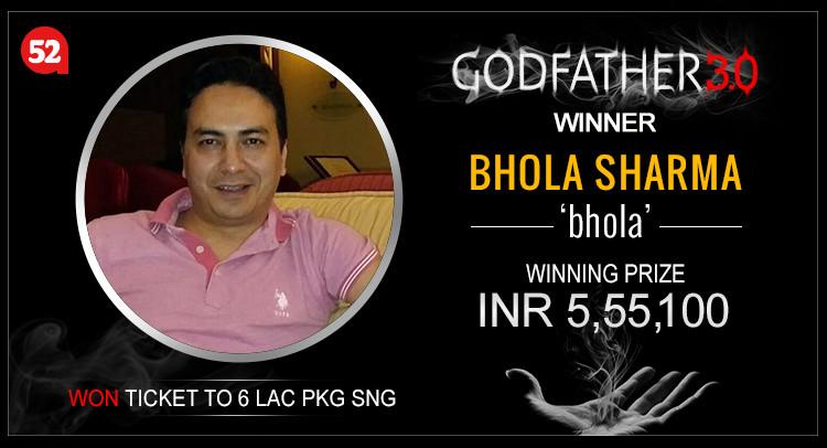 Bhola Sharma wins Judwaa and Godfather at Adda52.com