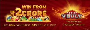 80% cashback on Pocket52's Pocket Vault Rewards Program!