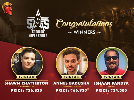 Chatterton, Badusha, Pandya among winners on SSS Day 3