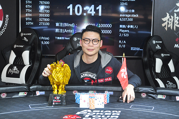 Chow Cliff wins first APT Taiwan Main Event