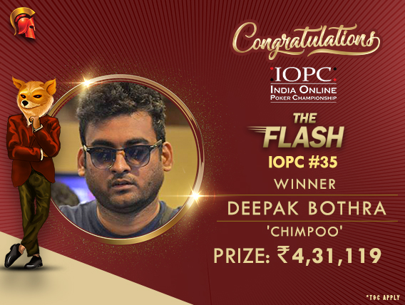 Deepak Bothra conquers The Flash on IOPC Day 7