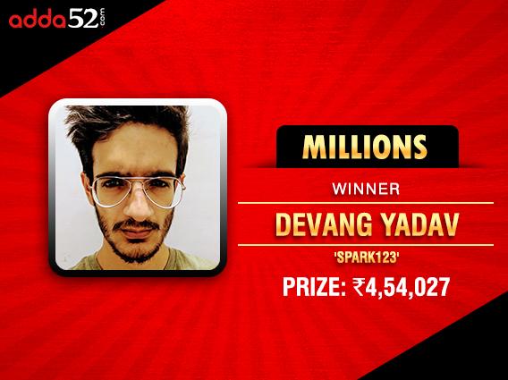 Devang Yadav ships Adda52 Millions