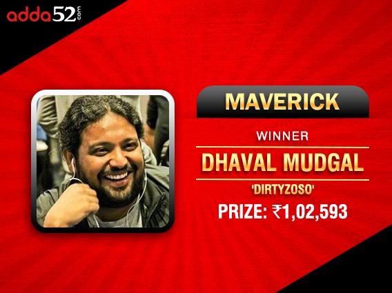 Dhaval Mudgal ships Maverick on Adda52