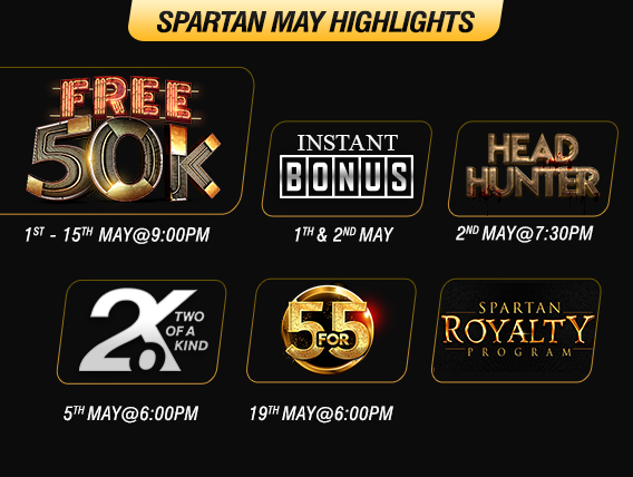 FREE bankroll building this May on Spartan