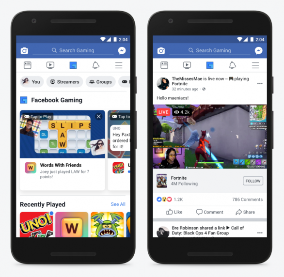 Facebook to add dedicated 'Gaming' icon on navigation bar