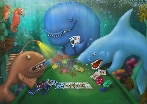 Fish at Poker Game