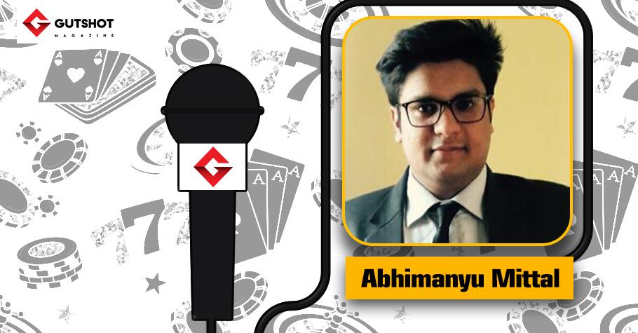An upcoming poker player...Abhimanyu Mittal