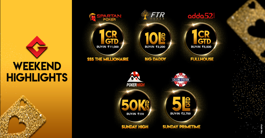 Welcome the weekend with five massive tournaments!