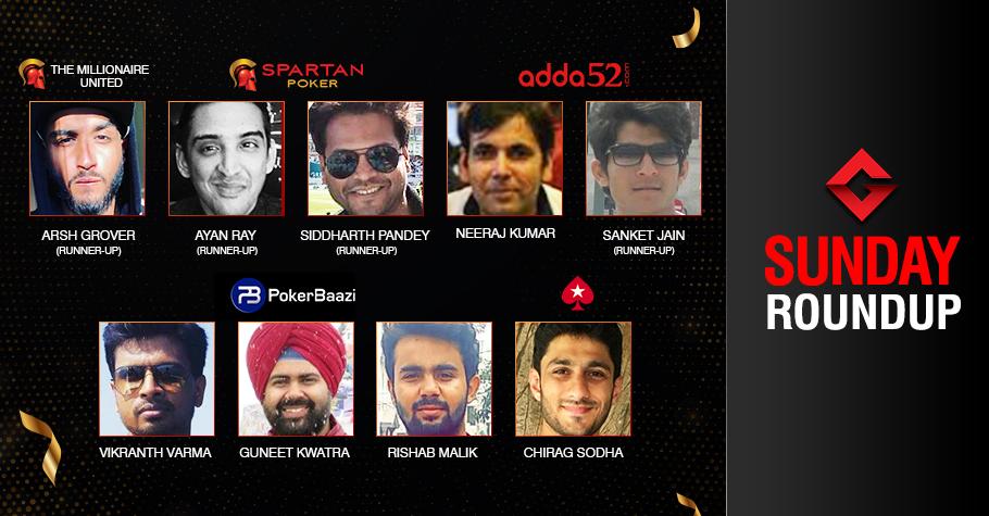 Sunday Roundup: Varma, Kwatra, Malik, Kumar, Sodha ship events!
