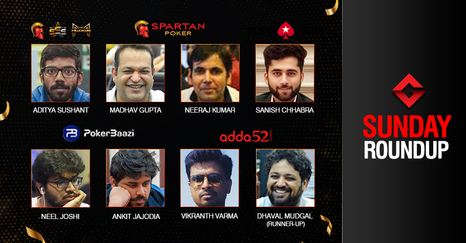 Sunday Roundup: Aditya Sushant is the latest SSS Millionaire!