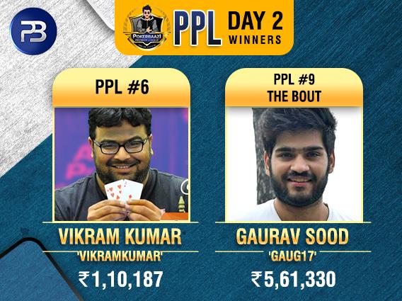 Gaurav Sood, Vikram Kumar win titles on PPL Day 2