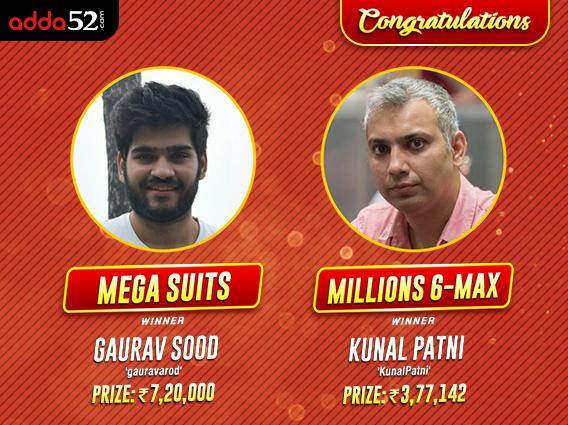 Gaurav Sood wins Mega Suits; Kunal Patni bags Millions