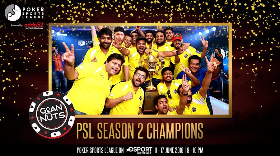 Goan Nuts wins Poker Sports League Season 2