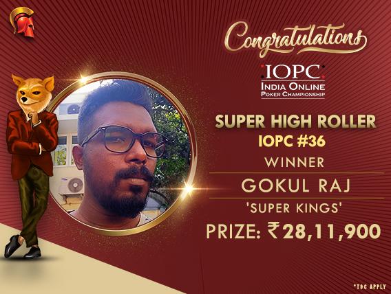 Gokul Raj wins IOPC's SHR for over 28.1L