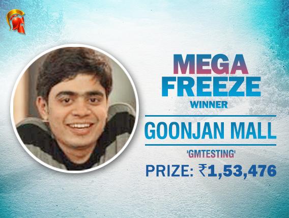 Goonjan Mall beats Gokul Raj to win Mega Freeze