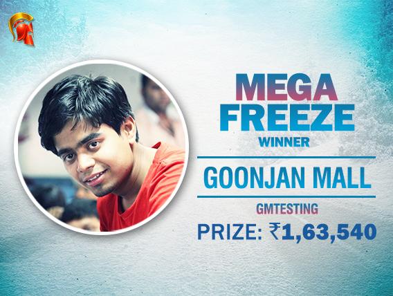 Goonjan Mall wins again; ships Mega Freeze on Spartan