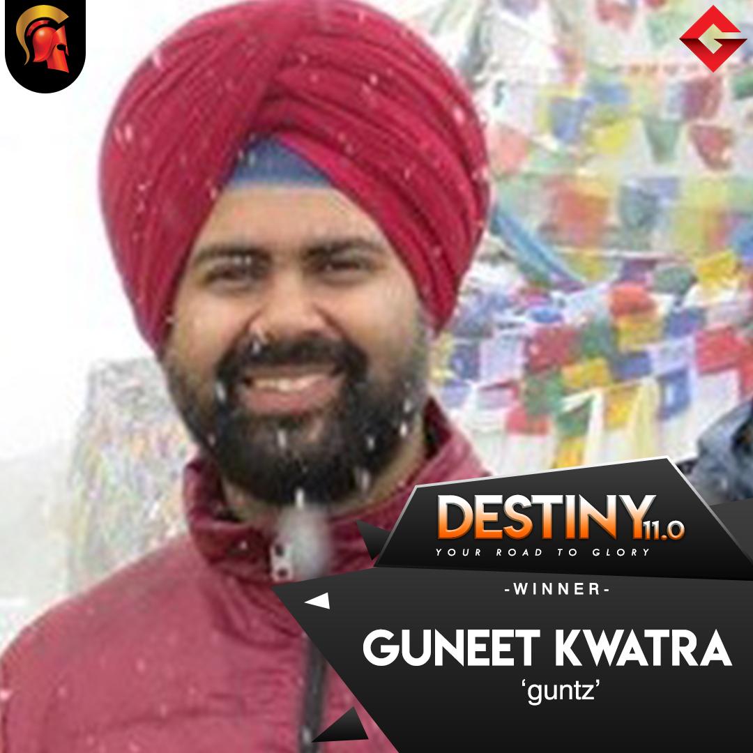 Guneet Kwatra wins Destiny 11.0 on Spartan