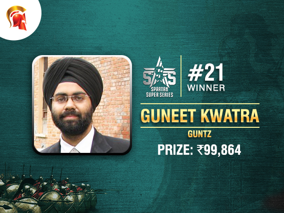 Guneet Singh Kwatra wins SSS Event #21 on Spartan