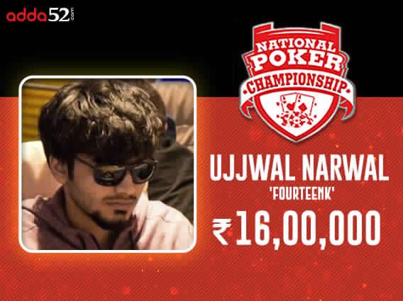 Ujjwal Narwal wins Adda52 National Poker Championship