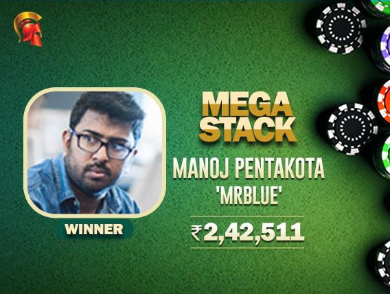 Heads-up deal gives Manoj Pentakota Spartan Mega Stack title