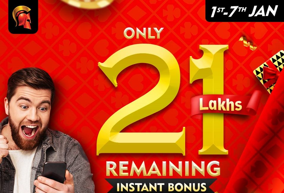Hurry! Only 21L left in Spartan's Instant Bonus