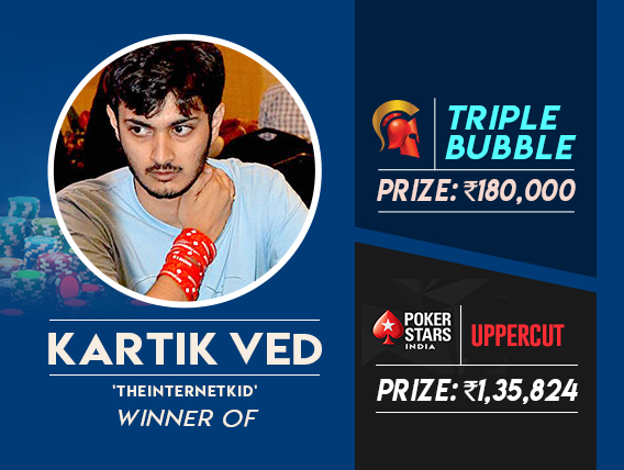 Kartik Ved ships Triple Bubble and Uppercut in one night