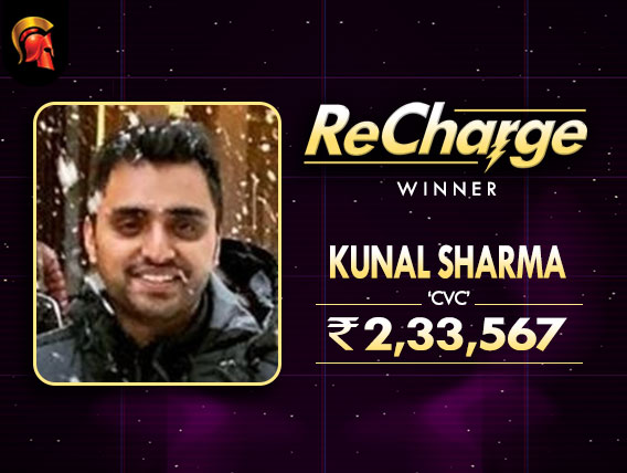 Kunal Sharma takes down ReCharge on Spartan Poker