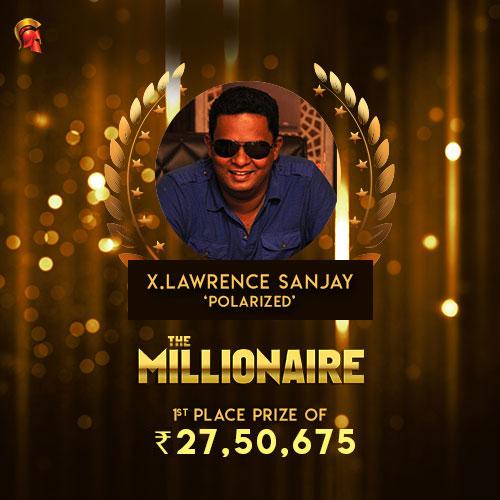 Lawrence Sanjay Millionaire winner