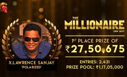 Lawrence Sanjay Millionaire winner2