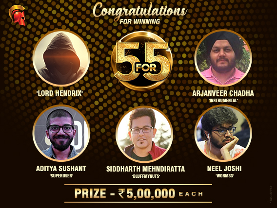 'Lord Hendrix', Chadha, Sushant, Joshi & Mehndiratta win 5 For 5